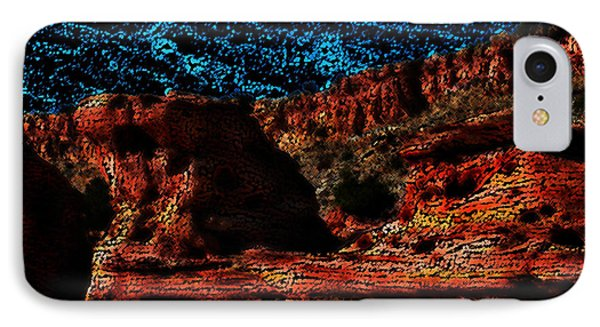 IPhone Case featuring the digital art The Cliffs by Kathleen Stephens