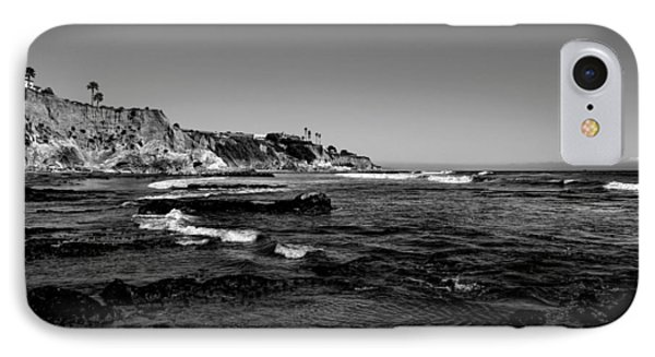 The Cliffs Of Pismo Beach Bw IPhone Case by Judy Vincent