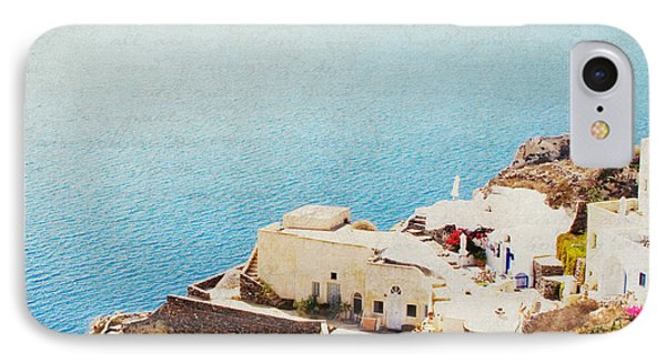 IPhone Case featuring the photograph The Cliffside - Santorini by Lisa Parrish