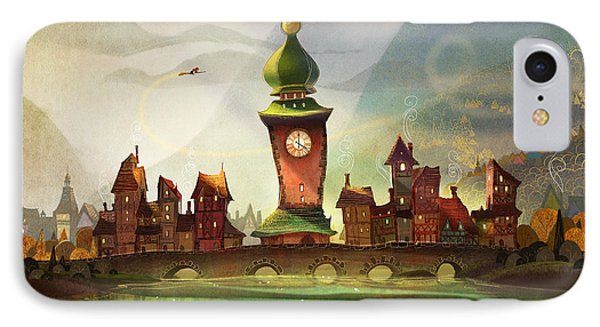 The Clock Tower IPhone Case by Kristina Vardazaryan