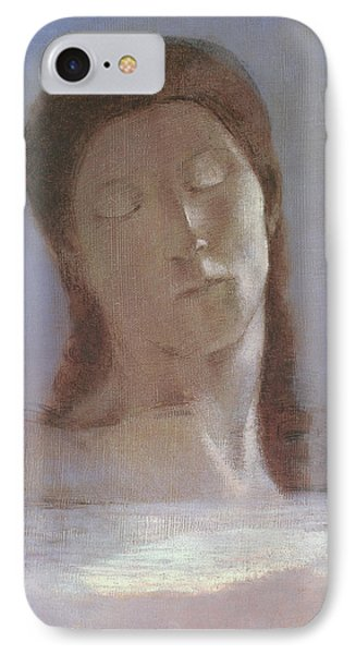 The Closed Eyes, 1890 IPhone Case by Odilon Redon