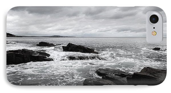 The Cloudy Day In Acadia National Park Maine IPhone Case