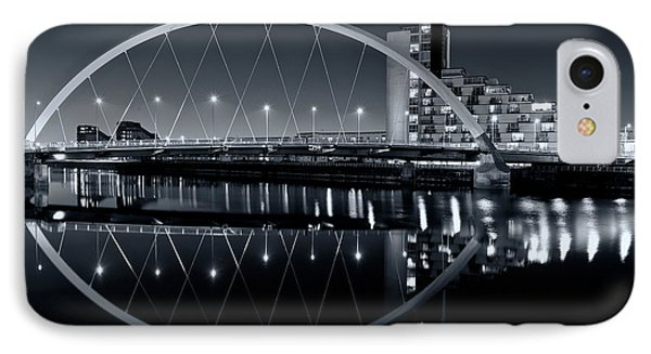 IPhone Case featuring the photograph The Clyde Arc Black And White by Stephen Taylor