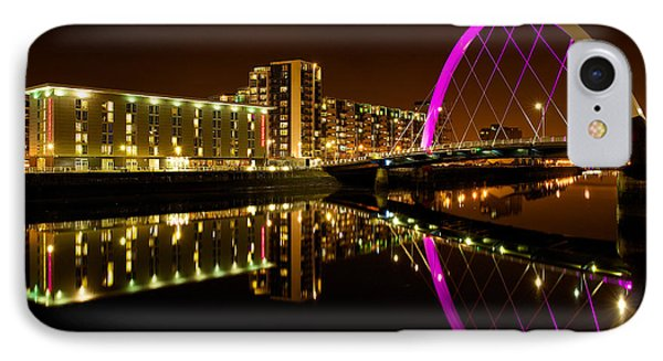 IPhone Case featuring the photograph The Clyde Arc In Purple by Stephen Taylor