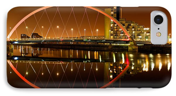 IPhone Case featuring the photograph The Clyde Arc On An Orange Sky by Stephen Taylor