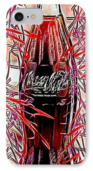 IPhone Case featuring the digital art The Coca-cola Bottle by Daniel Janda