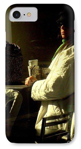 The Coffee Drinker IPhone Case by Miriam Danar