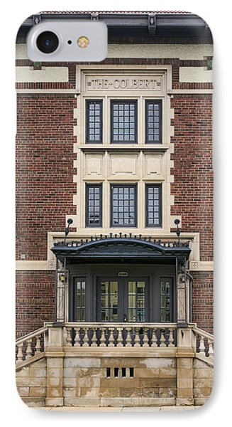 The Colbert - Brick Building - Omaha IPhone Case by Nikolyn McDonald