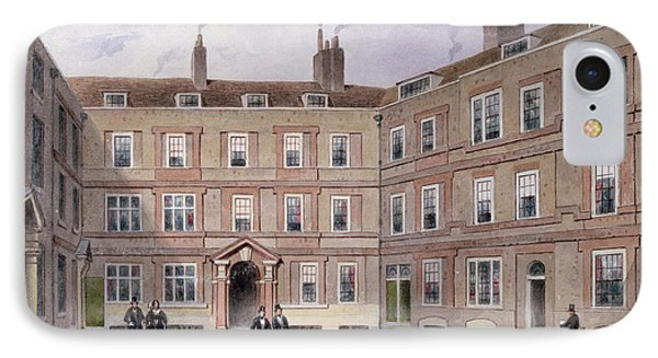 The College Of Advocates, Doctors Commons, 1854 Wc On Paper IPhone Case by Thomas Hosmer Shepherd