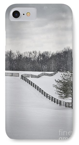 The Color Of Winter - Bw IPhone Case