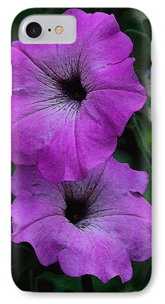 IPhone Case featuring the photograph The Color Purple   by James C Thomas