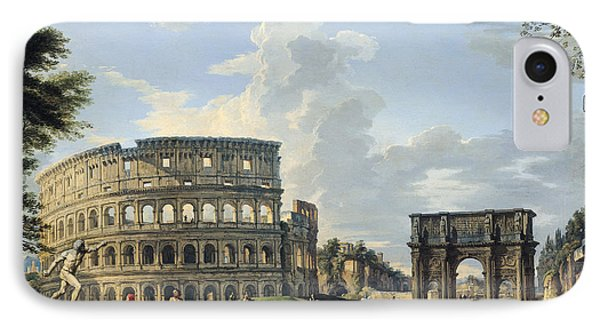 The Colosseum And The Arch Of Constantine IPhone Case