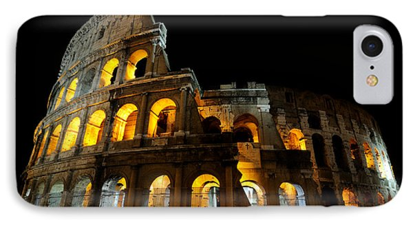 The Colosseum At Night IPhone Case by Jeremy Voisey