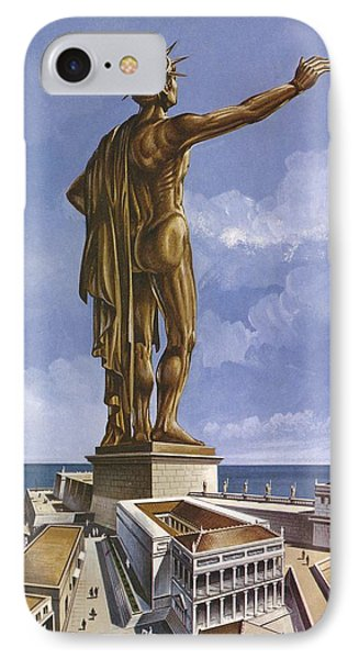 The Colossus Of Rhodes Colour Litho IPhone Case