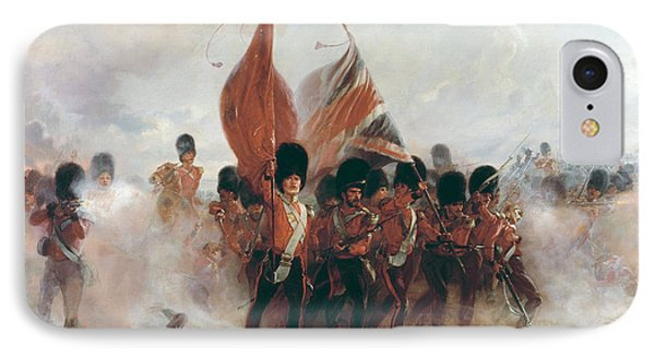 The Colors Advance Of The Scots Guards At The Alma IPhone Case