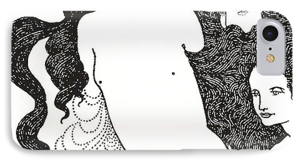 The Comedy Of The Rhinegold Phone Case by Aubrey Beardsley