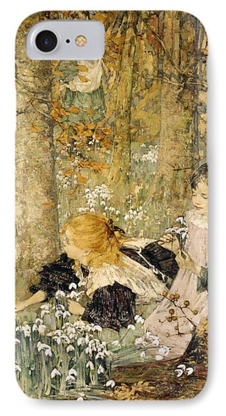 The Coming Of Spring, 1899 IPhone Case by Edward Atkinson Hornel