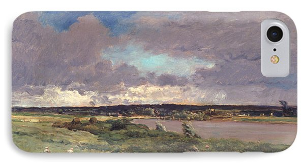 The Coming Storm IPhone Case by Charles Francois Daubigny