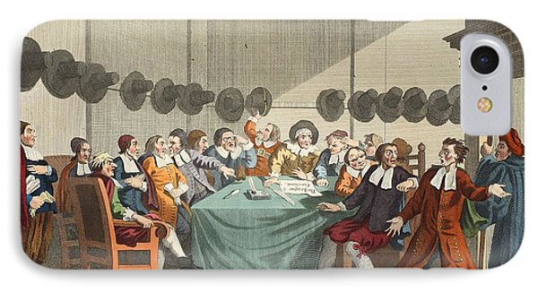 The Committee, From Hudibras By Samuel IPhone Case by William Hogarth