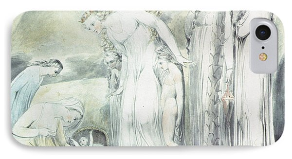 The Compassion Of Pharaohs Daughter Or The Finding Of Moses IPhone Case by William Blake