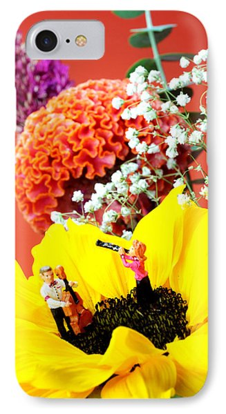 The Concert In The Flower Miniature Art Phone Case by Paul Ge