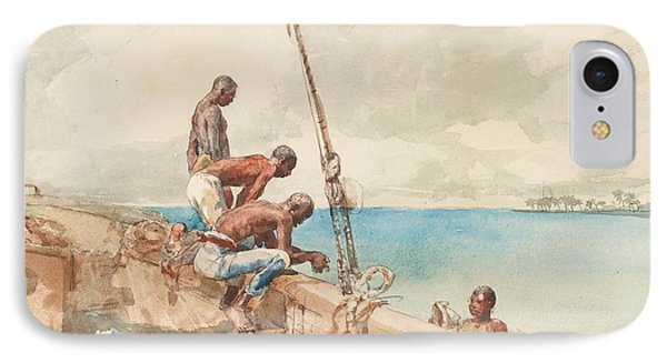 The Conch Divers Phone Case by Winslow Homer