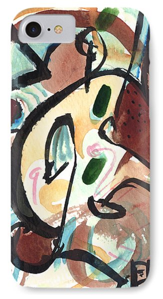 IPhone Case featuring the painting The Conversation 2 by Stephen Lucas