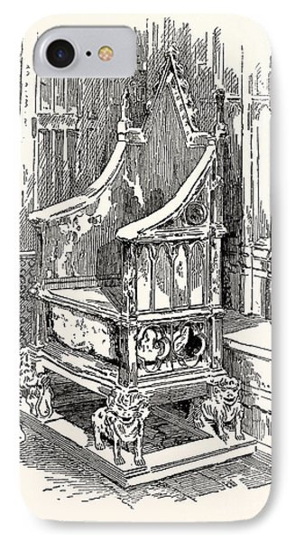 The Coronation Chair And Stone Of Destiny Westminster Abbey IPhone Case by English School