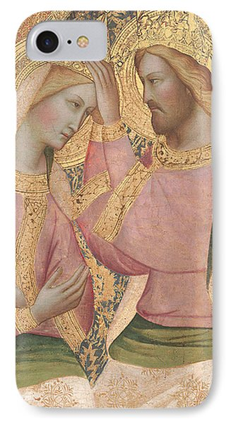 The Coronation Of The Virgin IPhone Case by Agnolo Gaddi