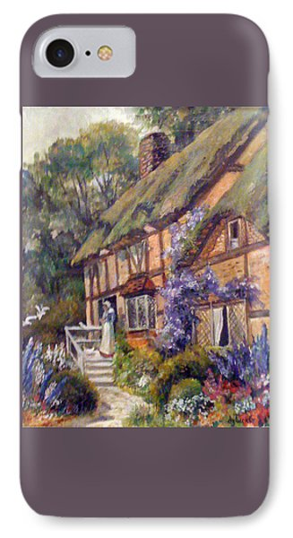 IPhone Case featuring the painting The Cottage by Donna Tucker