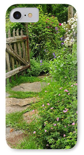 The Cottage Garden Walkway Phone Case by Thomas Schoeller