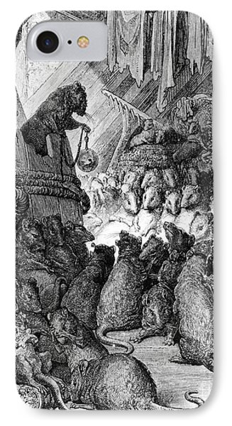 The Council Held By The Rats Phone Case by Gustave Dore