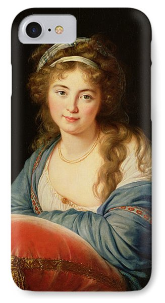 The Countess Catherine Vassilievna Skavronskaia IPhone Case by Elisabeth Louise Vigee-Lebrun