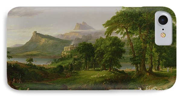 The Course Of Empire   The Arcadian Or Pastoral State IPhone Case by Thomas Cole