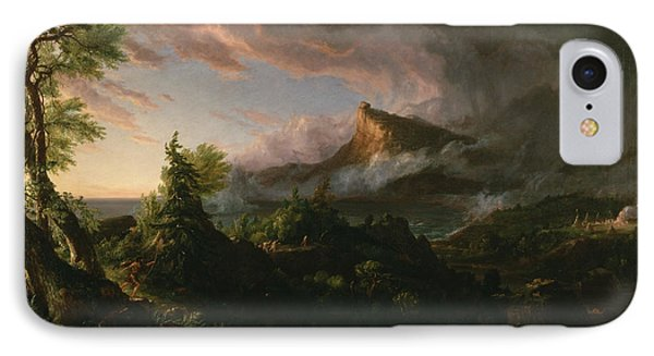 The Course Of Empire The Savage State  IPhone Case by Thomas Cole