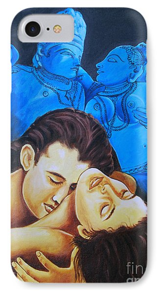 IPhone Case featuring the painting The Course Of Love by Ragunath Venkatraman