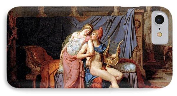 The Courtship Of Paris And Helen Phone Case by Jacques Louis David