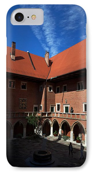 The Courtyard Of 15th Century IPhone Case by Panoramic Images