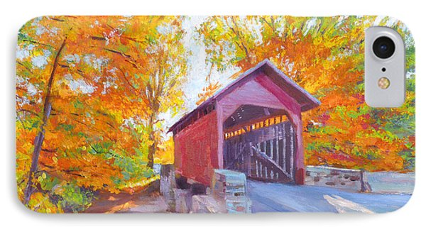 The Covered Bridge IPhone Case by David Lloyd Glover