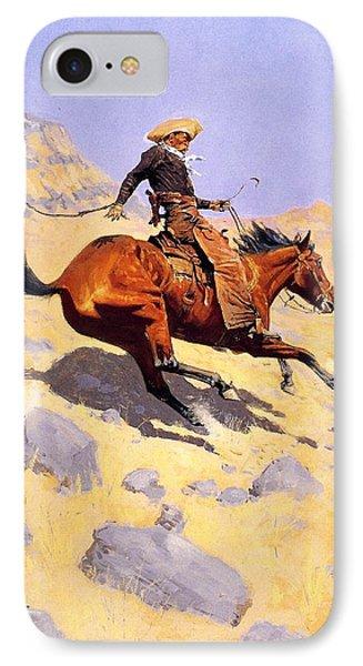 The Cowboy Phone Case by Fredrick Remington