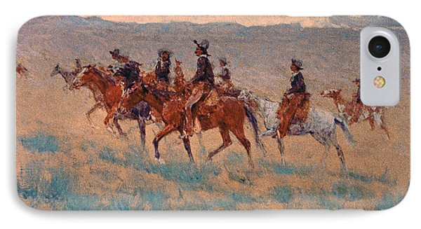 The Cowpunchers IPhone Case by Frederic Remington