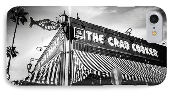 The Crab Cooker Newport Beach Black And White Photo IPhone Case