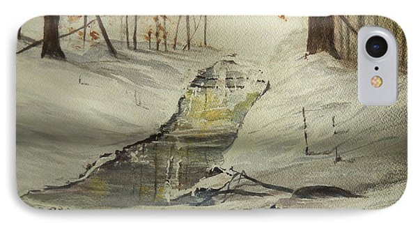 The Creek In Winter IPhone Case