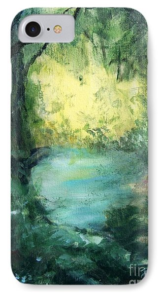 IPhone Case featuring the painting The Creek by Mary Lynne Powers