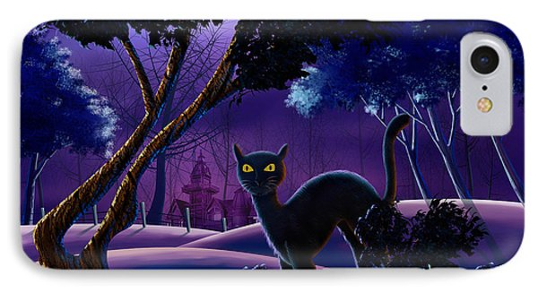 The Creepy Cat Of Ash Hills IPhone Case by Bedros Awak