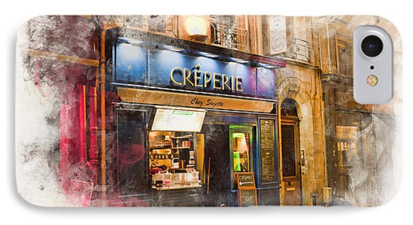 The Creperie Phone Case by Evie Carrier