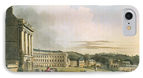 The Crescent, From Bath Illustrated IPhone Case by John Claude Nattes