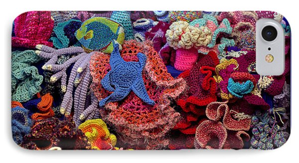 The Crochet Coral Reef IPhone Case by Farol Tomson