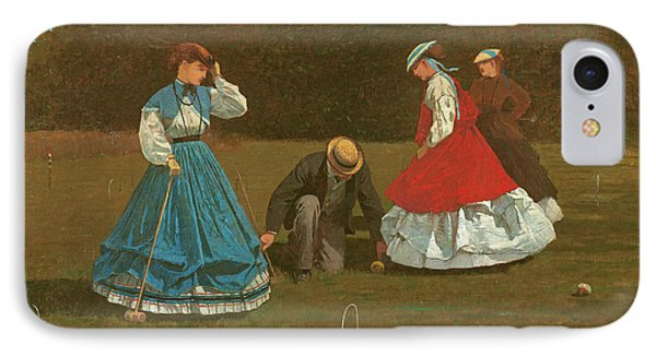 The Croquet Game IPhone Case