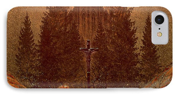 The Cross In The Mountains IPhone Case by Caspar David Friedrich